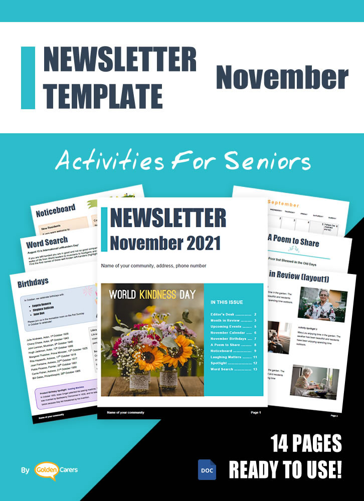 Here is a newsletter template for November 2020 in WORD format. So easy to edit and customize!