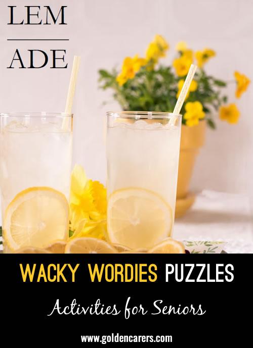 Wacky Wordies Puzzles: Food Edition