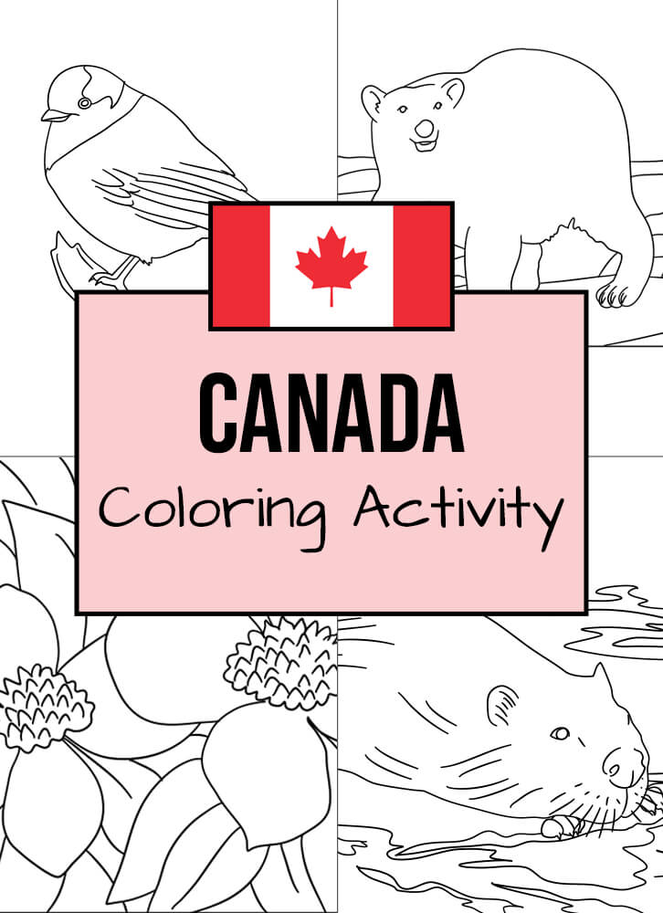 Here are some Canadian-themed coloring templates to enjoy!