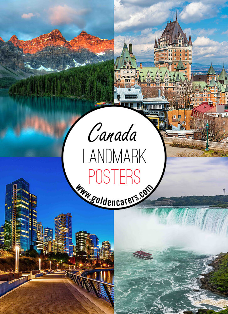 Posters of famous landmarks in Canada!