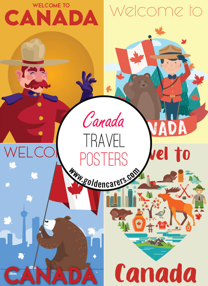 Posters of famous tourist destinations in Canada!