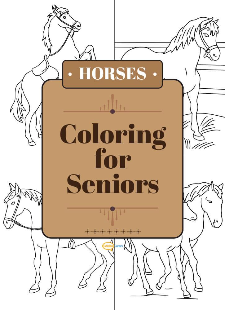Horses - Coloring for Seniors