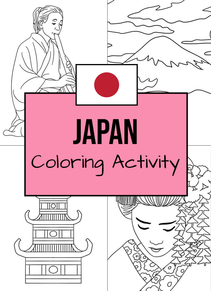 Here are some Japanese-themed coloring templates to enjoy!