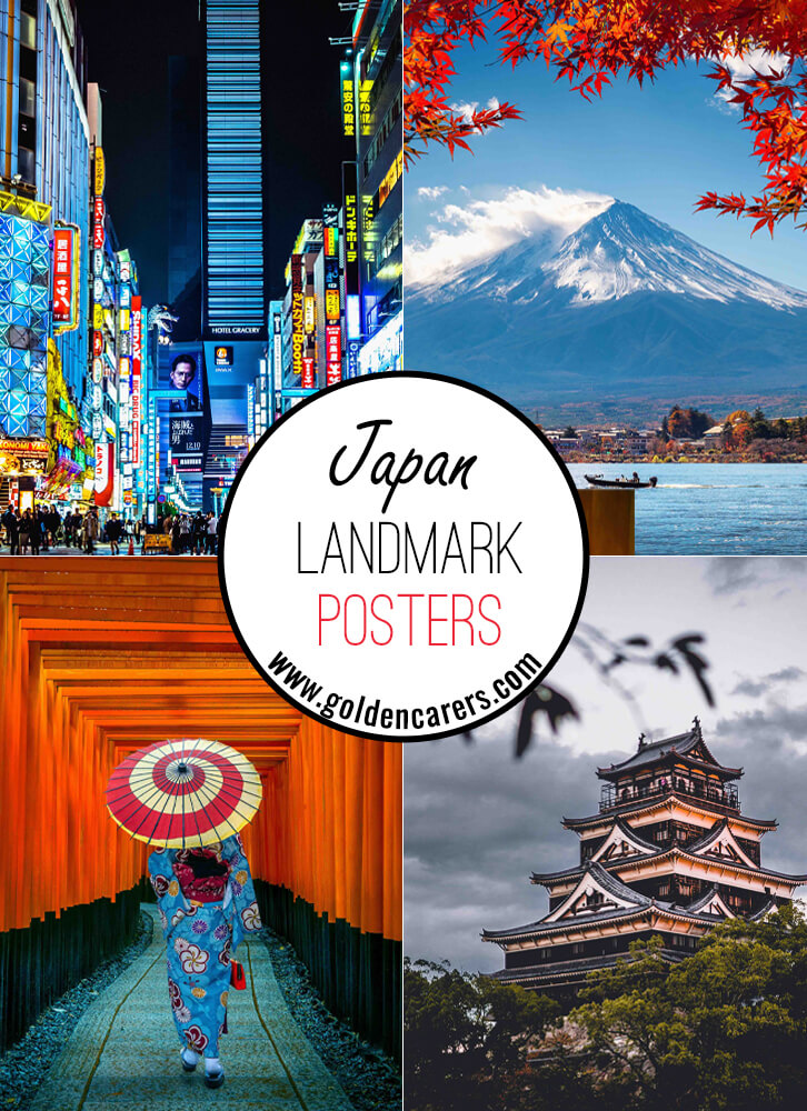Posters of famous landmarks in Japan!