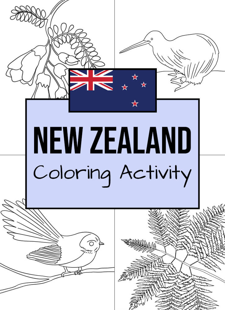 Here are some New Zealanders-themed coloring templates to enjoy!