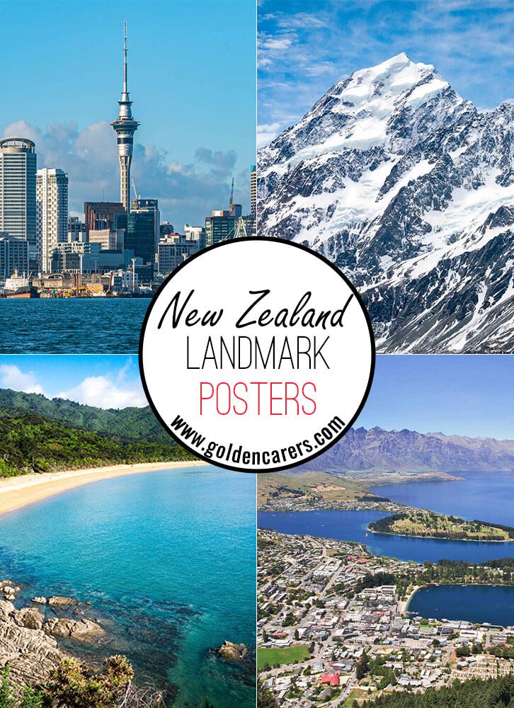 New Zealand Landmark Posters