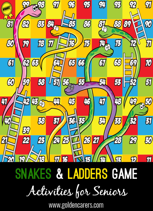 Here is a downloadable, covid-friendly snakes & ladders game to enjoy!