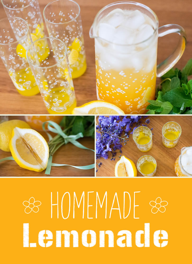 Here is an easy way to make home-made lemonade