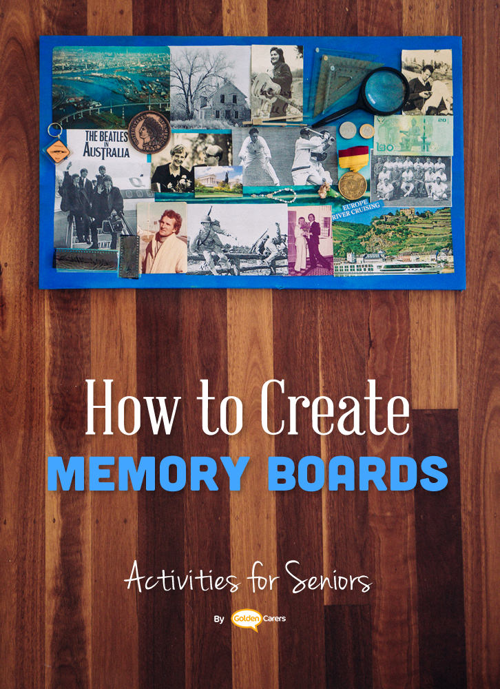 Residents downsize quite a bit to move into a care home. Help them reminisce about their past while you learn more about them by creating Memory Boards!