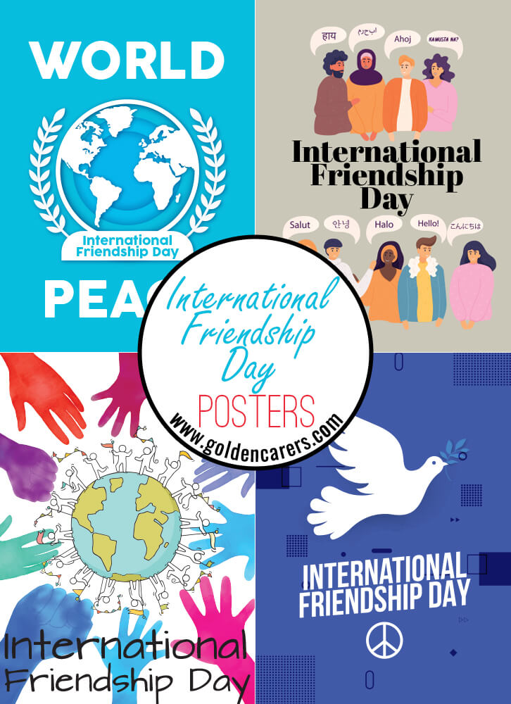Internationa Friendship Day posters for decorating!
