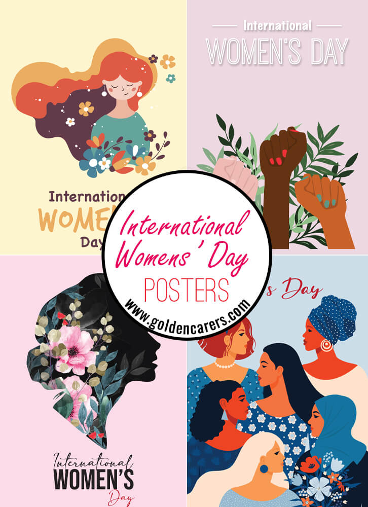 Here are some posters for International Women's Day in March.
