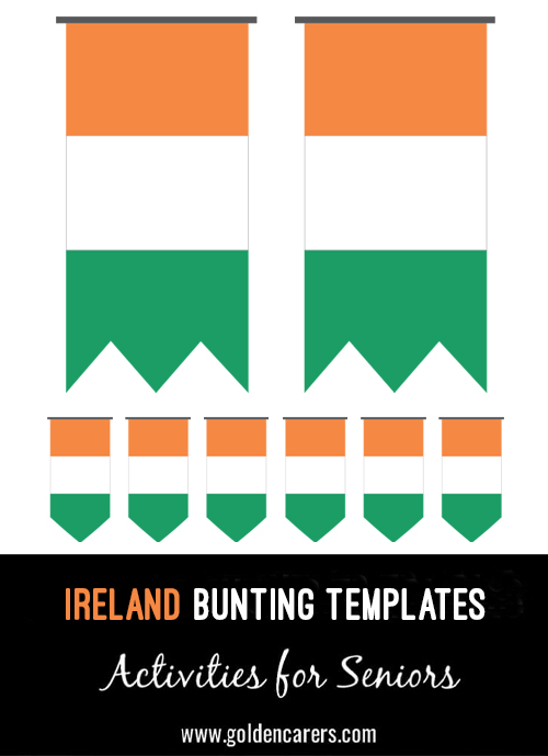 Ireland Bunting templates for a Irish party!