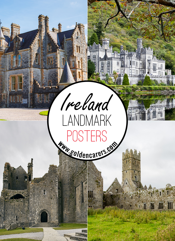 Posters of famous landmarks in the Ireland!