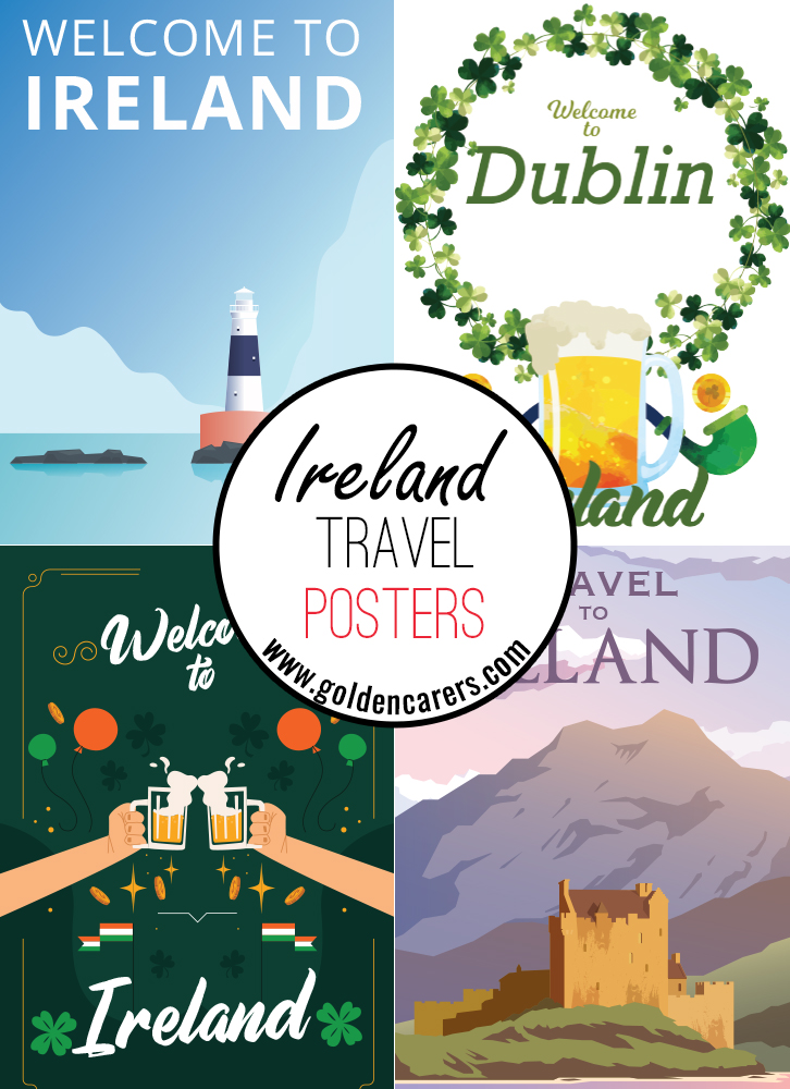 Posters of famous tourist destinations in Ireland!