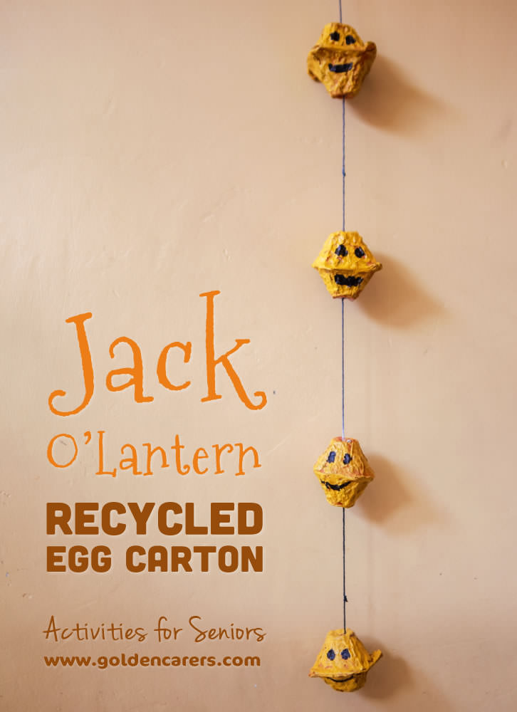 A fun Halloween craft activity using recycled egg cartons.