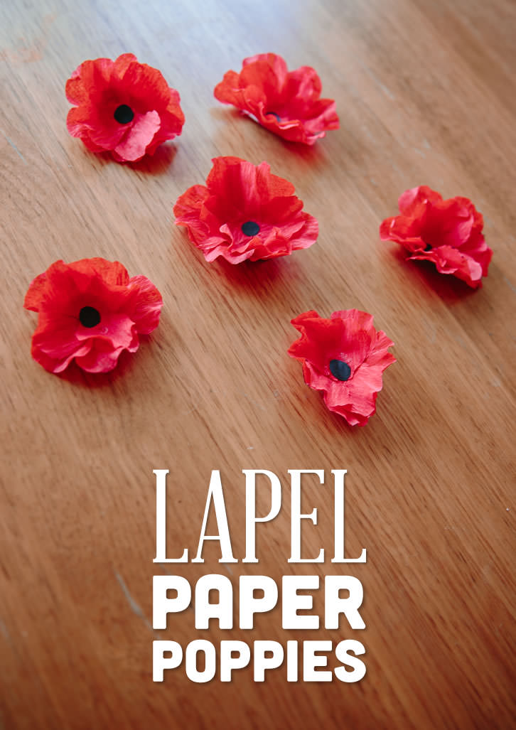 Lapel paper poppies lovely and simple to make paper lapel poppies perfect for seniors to make and wear mightylinksfo