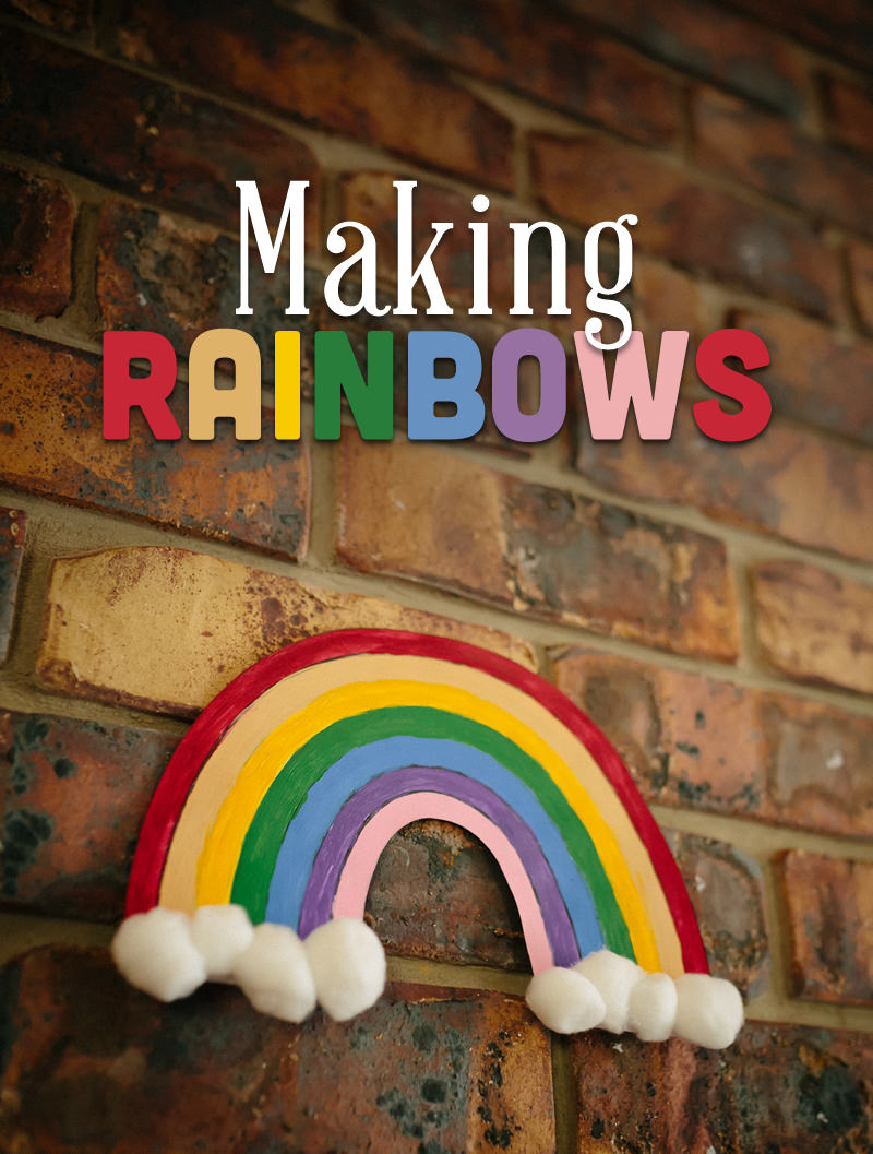This activity is suitable as part of an Intergenerational Program. Residents are paired with their own grandchildren or local school children to make beautiful rainbows.