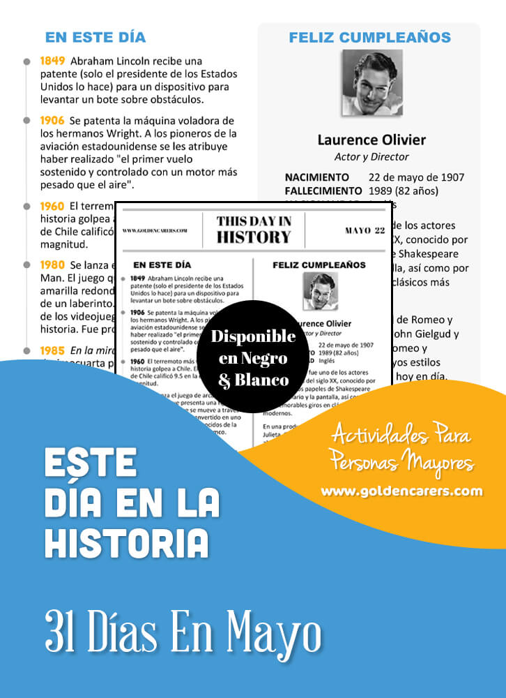 This Day in History - May - Spanish Version