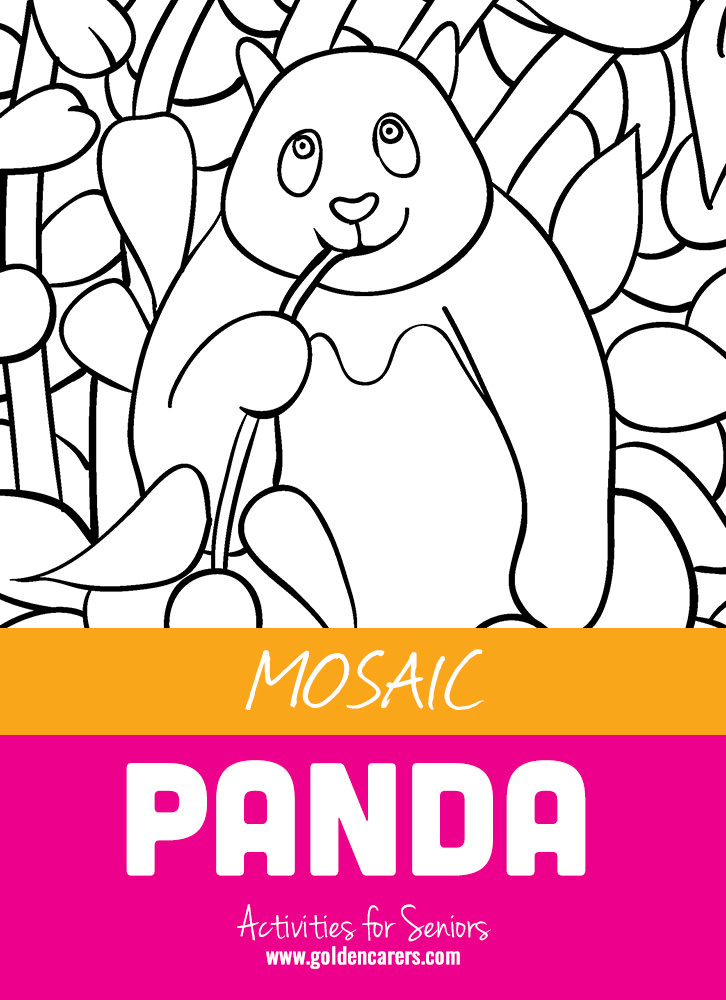 The next installment in our mosaic coloring activities - a very cute panda!