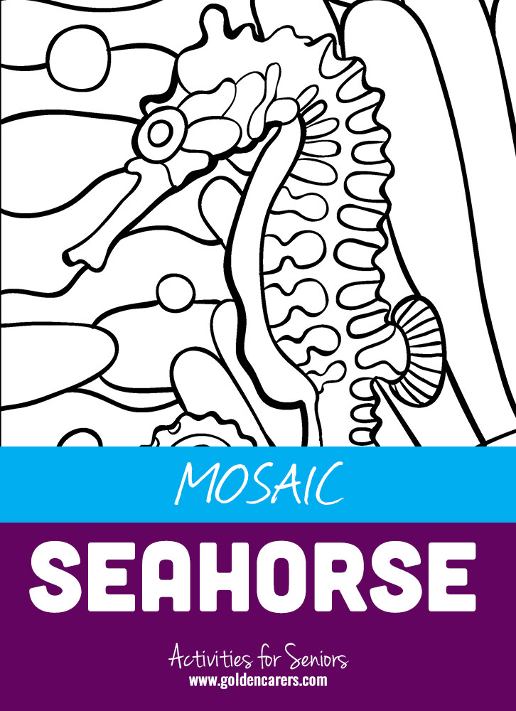 Mosaic coloring pages are a fun way to sharpen motor skills and release tension. Just like meditation, coloring allows us to switch off our brains from other thoughts and focus only on the moment. It is a calming and therapeutic pastime.
