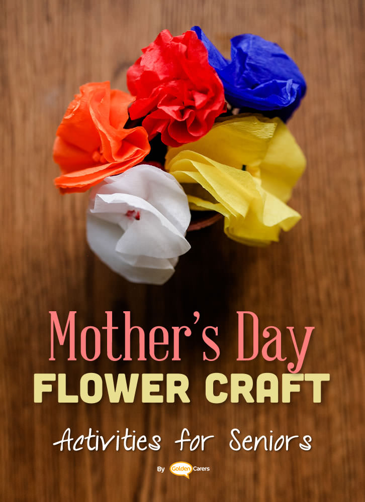 Another way of making lovely tissue flowers for Mother's Day - video included!