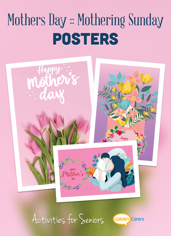 Mothering Sunday Poster for printing.
