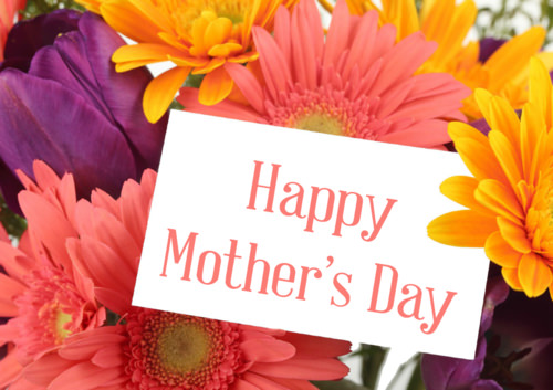 Mother's Day Poster with Flowers for printing.