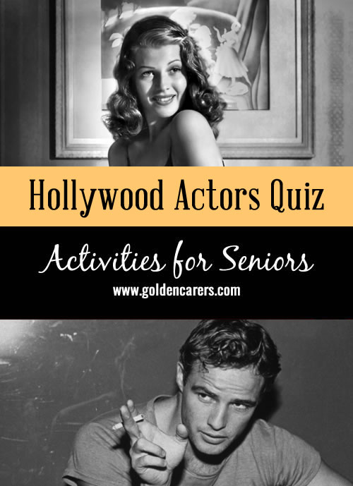 Do you remember these faces? A fun visual quiz for seniors that will lead to reminiscing.