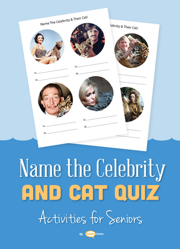 This is a fun quiz that will generate conversation and reminiscing.