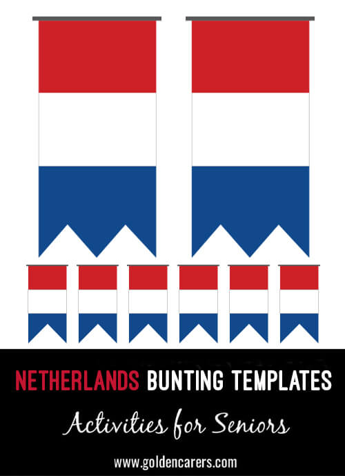 The Netherlands Bunting templates for a Dutch party!