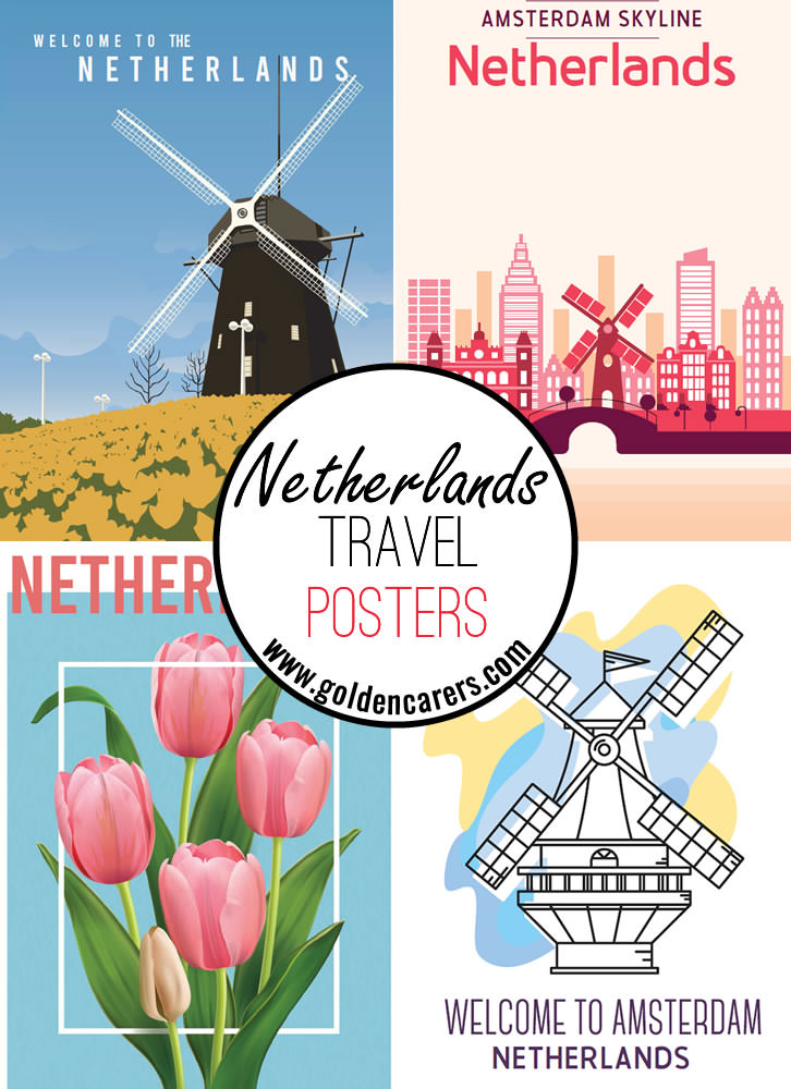 Posters of famous tourist destinations in Netherlands!