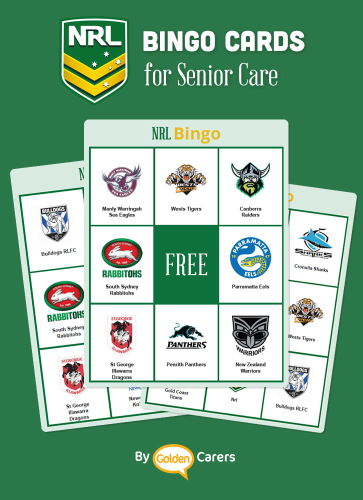 A bingo game featuring NRL clubs for members from Australia and New Zealand!