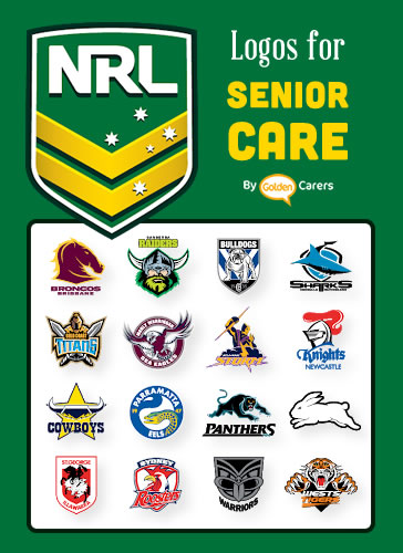 NRL Team Logos for downloading and printing to decorate your facility.