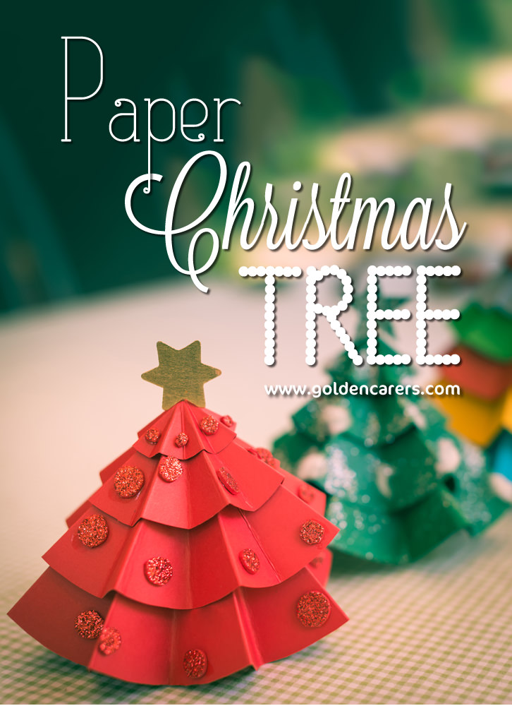 these cute christmas tree decorations are suitable for table tops windowsills or desks you - Paper Christmas Tree Decorations