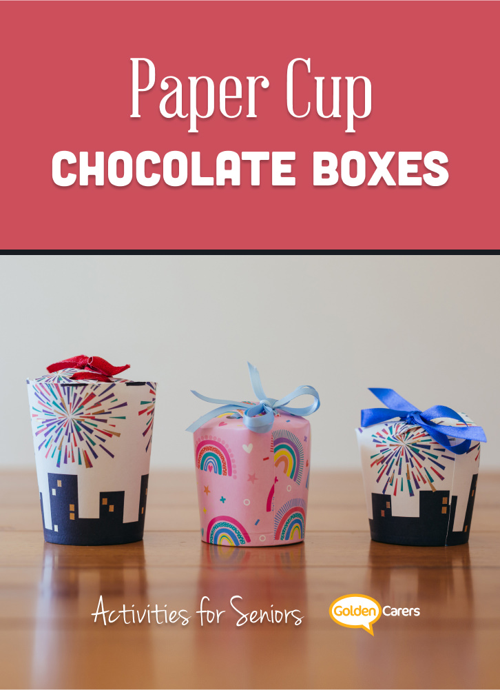 World Chocolate Day is on July 7 each year. Make these lovely chocolate boxes with residents and then surprise other residents at the breakfast table!
