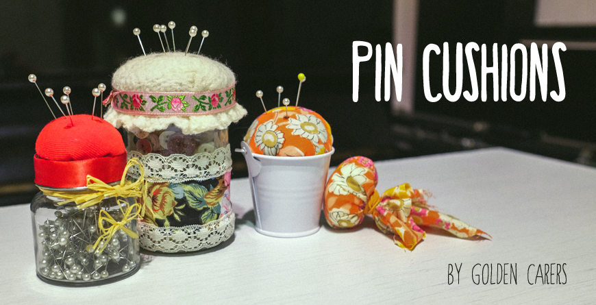 Consider this easy to make gift for Mother's Day or for Volunteers. These pin cushions are fun to make!