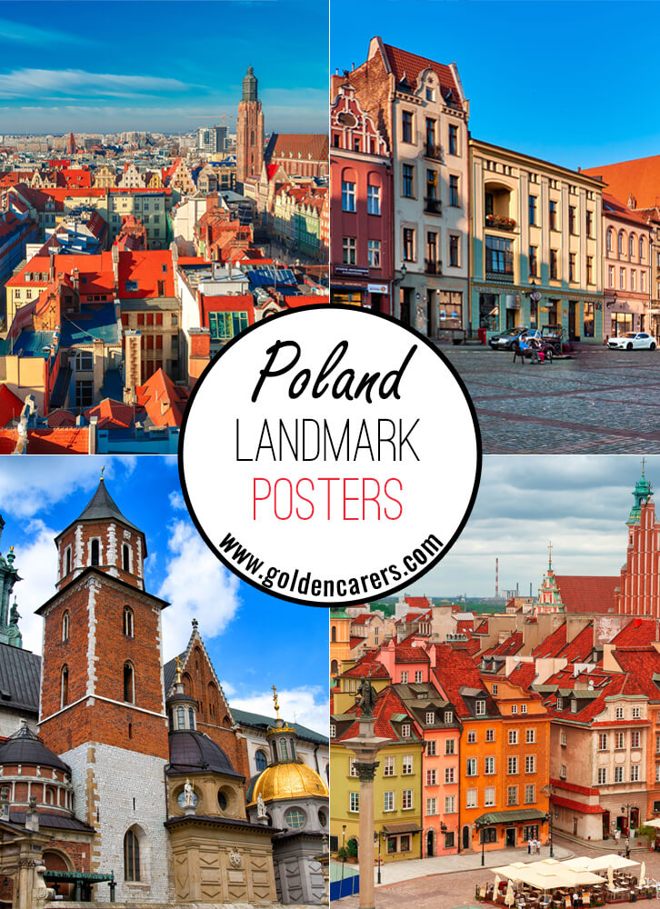 Posters of famous landmarks in Poland!