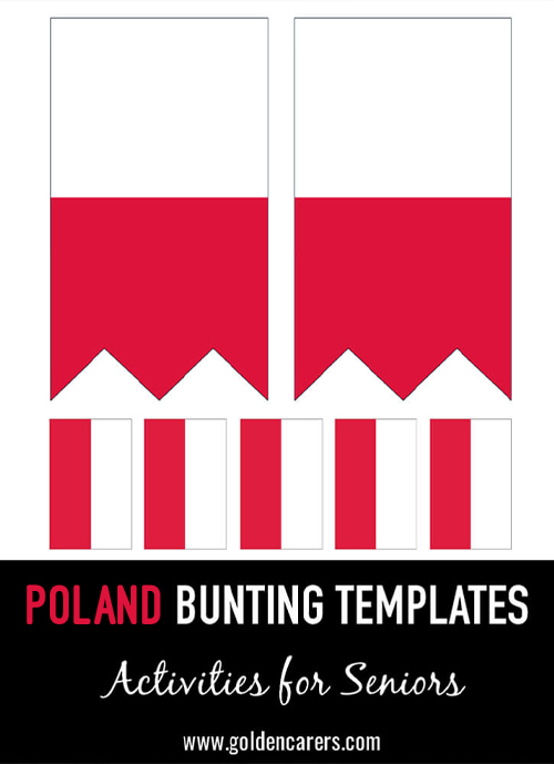 Poland Bunting templates for a Polish party!