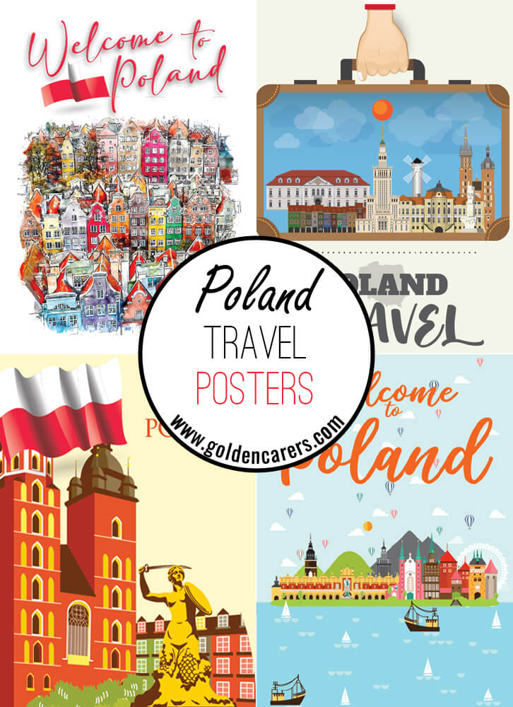 Posters of famous tourist destinations in Poland!