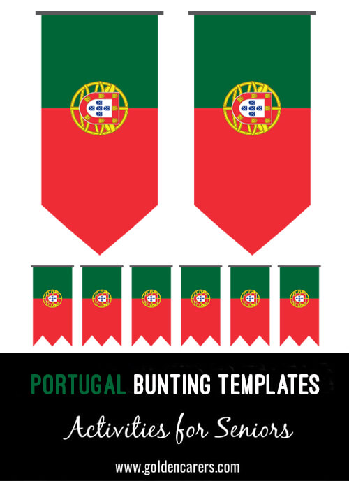 Portugal Bunting templates for a Portuguese party!