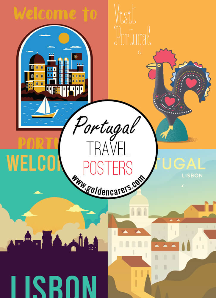 Posters of famous tourist destinations in Portugal!