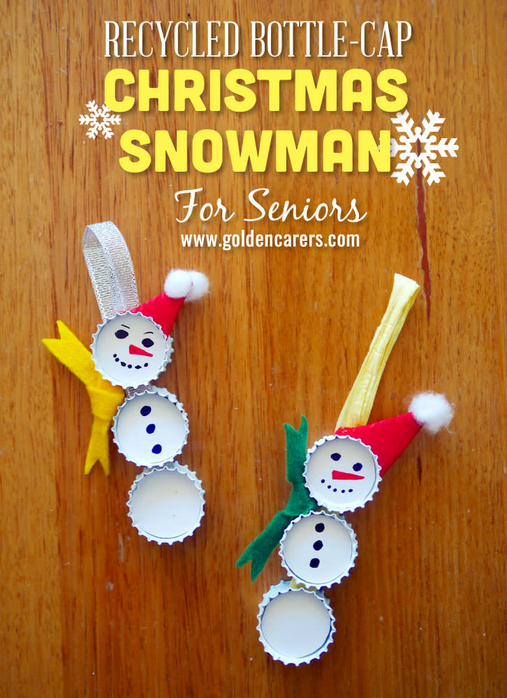 Make these gorgeous recycled snowmen to hang on the Christmas Tree!