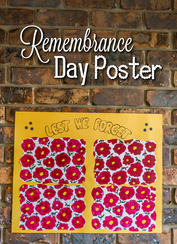 Create a lovely poster to commemorate Remembrance Day.
