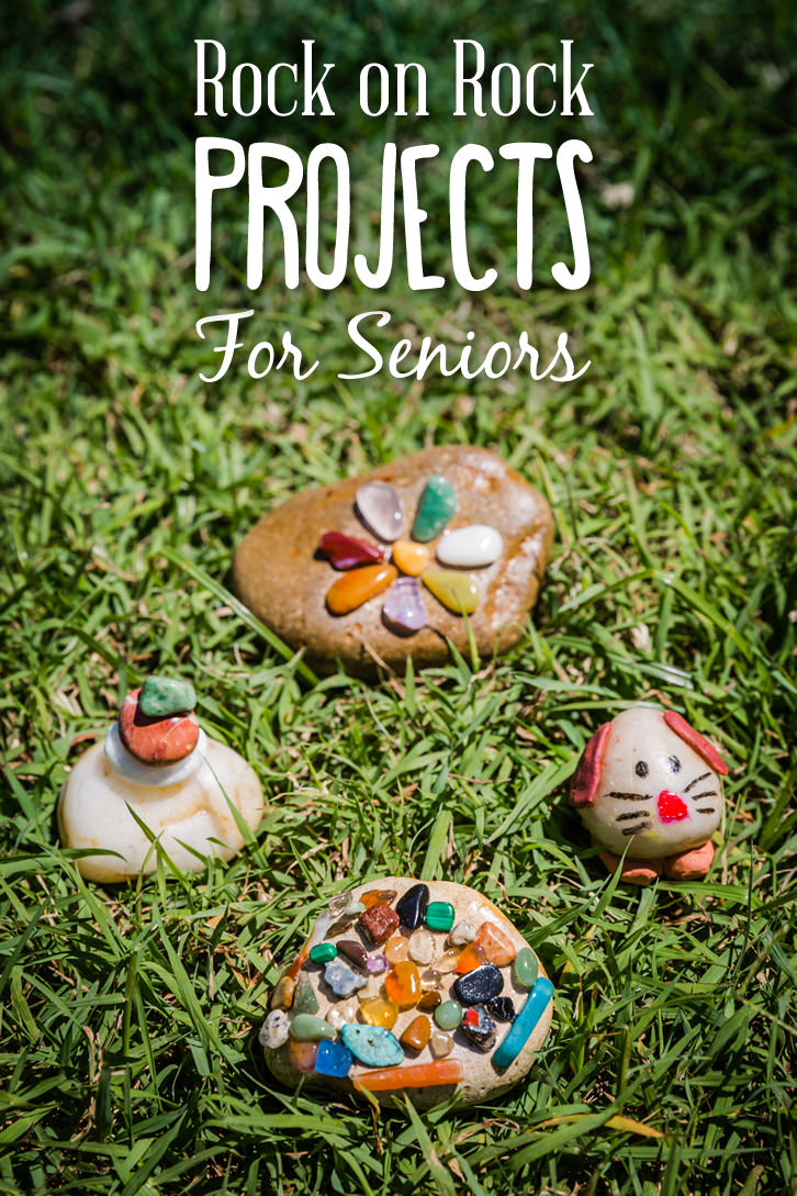 This is a wonderful craft activity for seniors that is fun, creative and always successful. There is no right or wrong way to put the stones together - each piece is unique and beautiful! Encourage your clients to unleash their inner talents! These lovely stone creations make lovely gift mementos too.