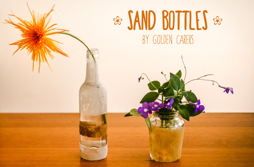 how to make sand bottles