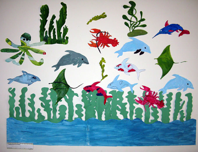 Help celebrate the oceans rich diversity of life. Have fun by turning a wall in your facility into your own ocean or aquarium.