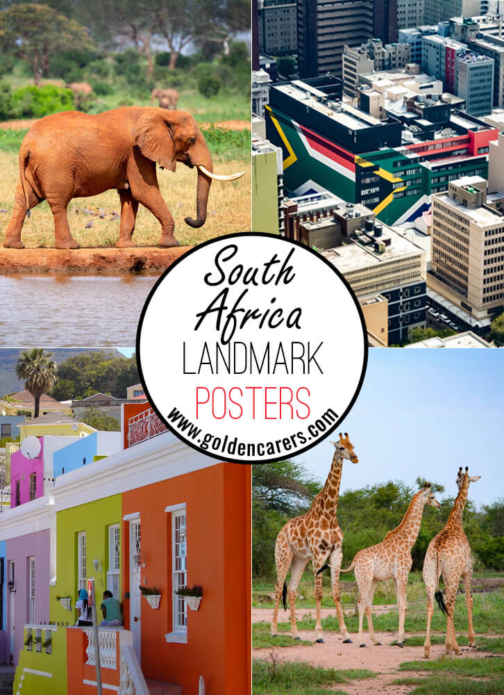 Posters of famous landmarks in South Africa!