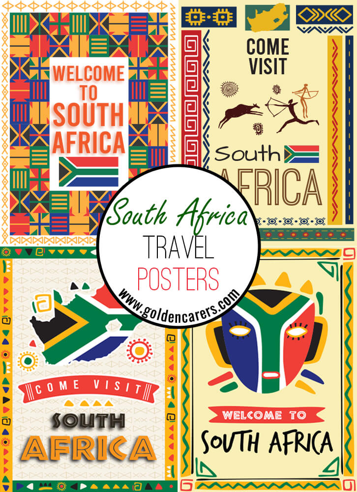 Posters of famous tourist destinations in South Africa!
