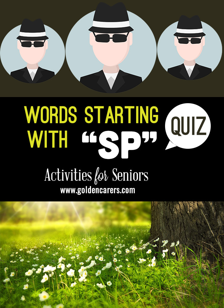 All the answers in this quiz start with the letters 'Sp'!