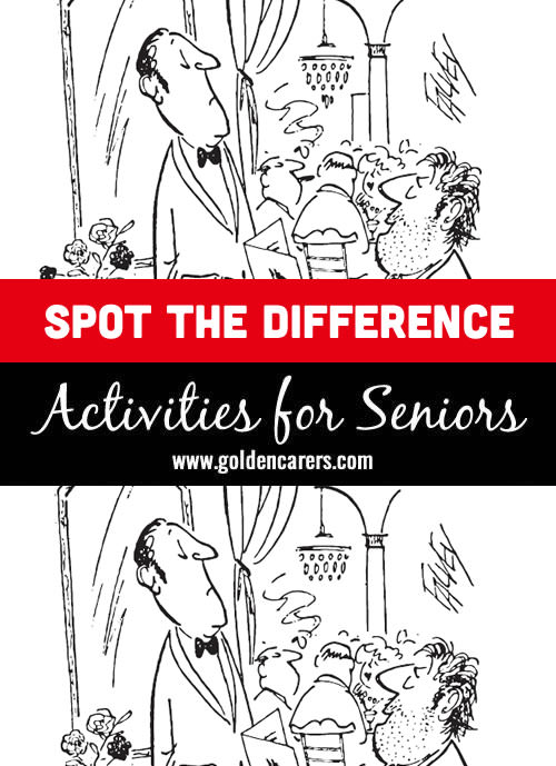 Number 15 in our Spot The Differences series for Seniors!